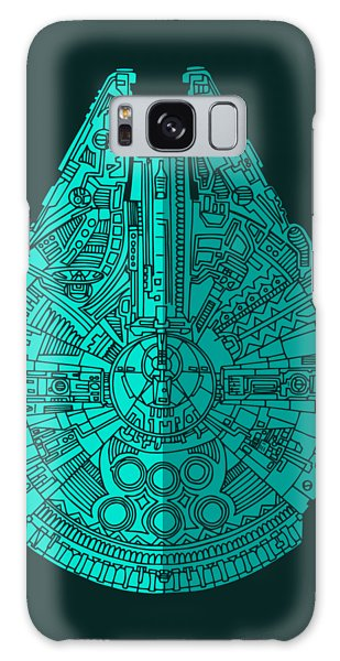 Star Wars Art - Millennium Falcon - Blue 02 Galaxy Case
