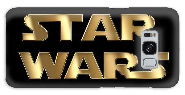 Star Wars Golden Typography On Black Galaxy Case