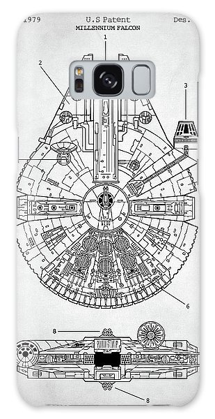 Star Wars Millennium Falcon Patent Galaxy Case by Taylan Apukovska
