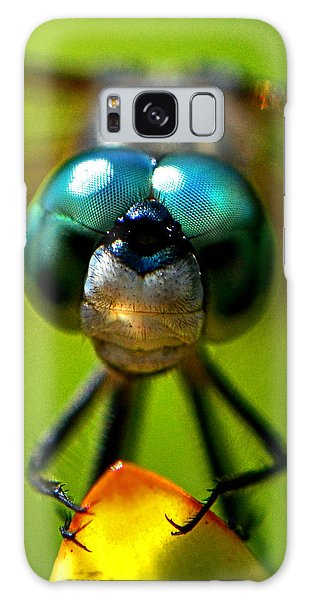 Stare Down With A Dragonfly 001 Galaxy Case by George Bostian