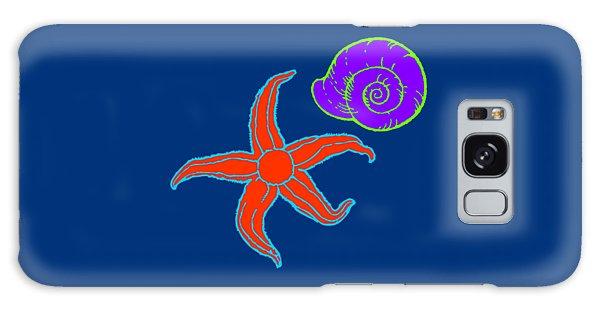 Galaxy Case featuring the digital art Starfish And Shell by Jennifer Hotai