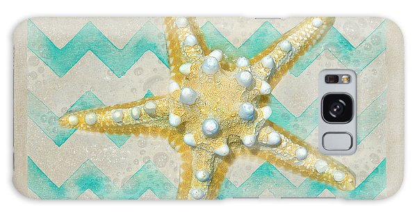 Starfish In Modern Waves Galaxy Case