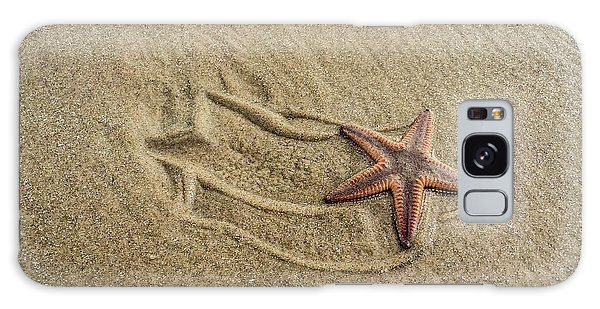 Starfish On The Beach Galaxy Case by Debra Martz