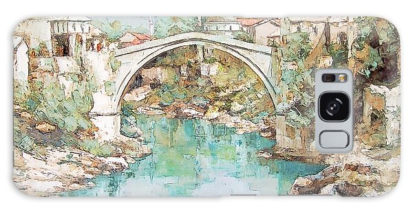 Stari Most Bridge Over The Neretva River In Mostar Bosnia Herzegovina Galaxy Case