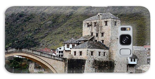 Stari Most Ottoman Bridge And Embankment Fortification Mostar Bosnia Herzegovina Galaxy Case