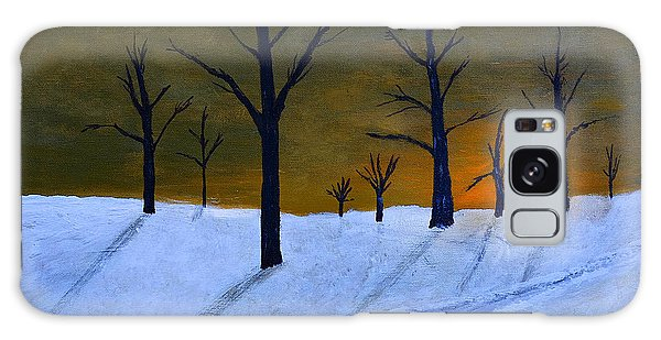 Stark Winter Sunset Galaxy Case