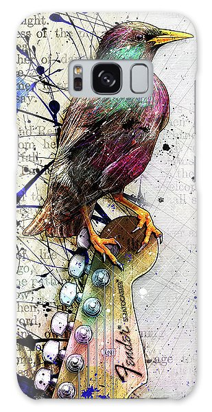 Starling On A Strat Galaxy Case