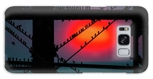 Starlings Against The Setting Sun Galaxy Case