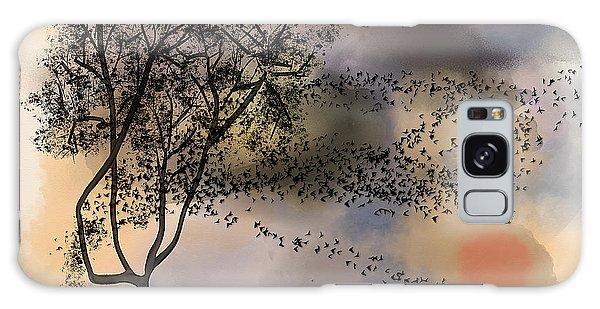 Starlings At Dusk Galaxy Case
