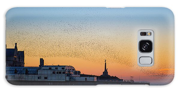 Starlings At Sunset In Aberystwyth Galaxy Case