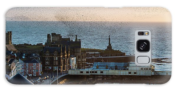 Starlings Over Aberystwyth On The West Wales Coast Galaxy Case