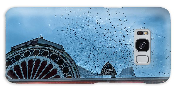 Starlings Over Aberystwyth Royal Pier Galaxy Case
