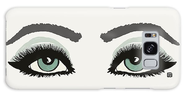 Galaxy Case featuring the painting Starry Eyed by Lisa Weedn