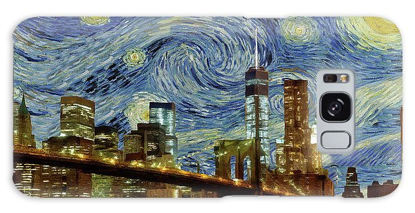 Starry Night Brooklyn Bridge Galaxy Case by Movie Poster Prints