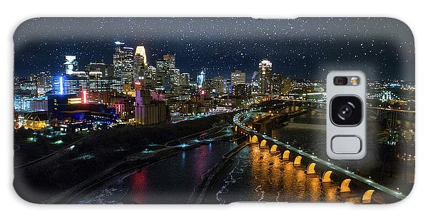 University Of Minnesota Galaxy S8 Case - Starry Night In Minneapolis by Gian Lorenzo Ferretti