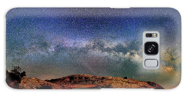 Starry Night Over Mesa Arch Galaxy Case