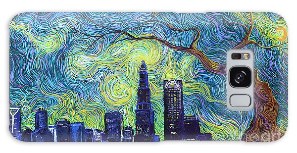 Starry Night Over The Queen City Galaxy Case