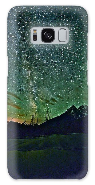Starry Night Over The Tetons Galaxy Case