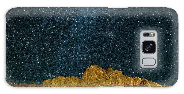 Starry Night Sky Over Rocky Landscape Galaxy Case