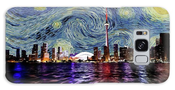 Starry Night Toronto Canada Galaxy Case by Movie Poster Prints