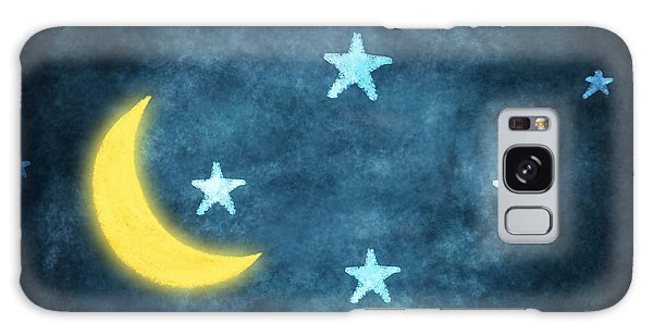 Stars And Moon Drawing With Chalk Galaxy Case by Setsiri Silapasuwanchai