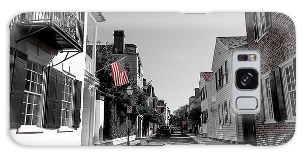 Stars And Stripes- Church St Charleston Sc Galaxy Case