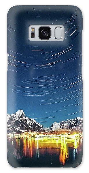 Startrails Above Reine Galaxy Case