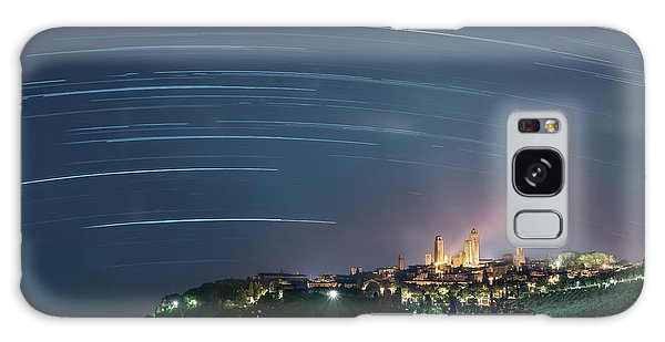 Startrails Over San Gimignano Galaxy Case