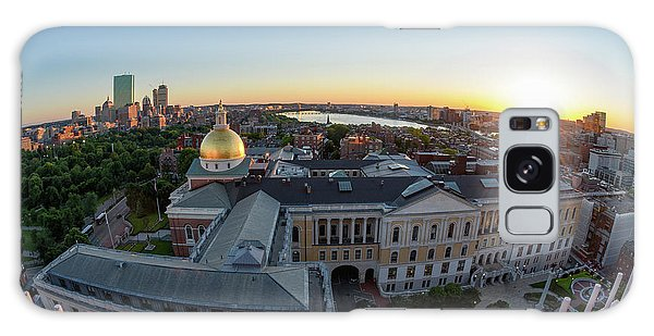 Galaxy Case featuring the photograph State House,fisheye View by Michael Hubley