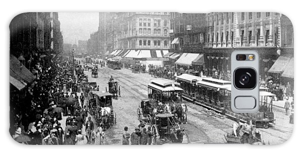 State Street - Chicago Illinois - C 1893 Galaxy Case by International  Images