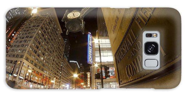State Street Night Scene Galaxy Case