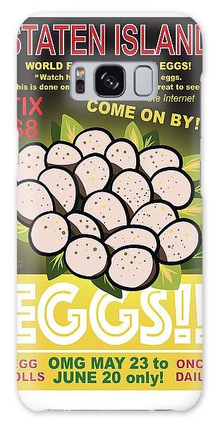 Staten Islands Eggs Galaxy Case