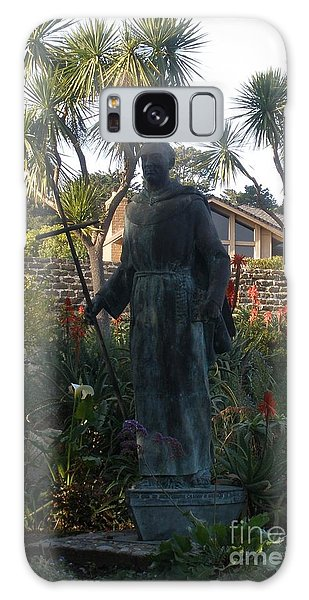 Statue At Mission Carmel Galaxy Case
