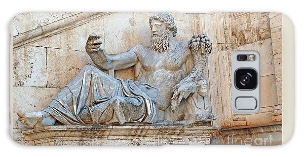 Statue Capitoline Hill Of Rome Italy Galaxy Case