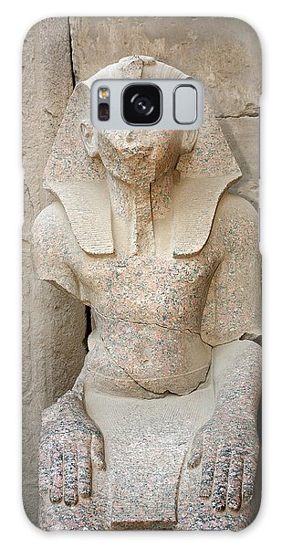 Statue From Pink Granite In Karnak Temple Galaxy Case