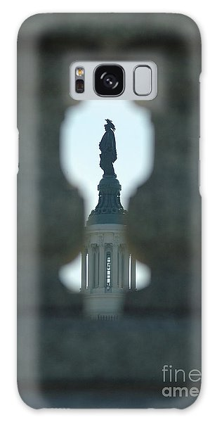 Statue Of Freedom Through Railing Galaxy Case