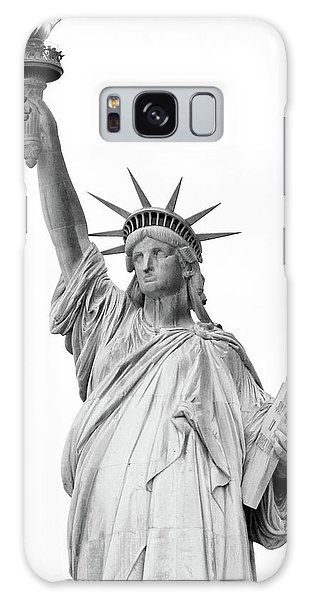 Statue Of Liberty, Black And White Galaxy Case by Sandy Taylor