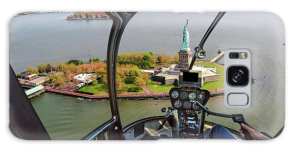 Statue Of Liberty Helicopter Galaxy Case