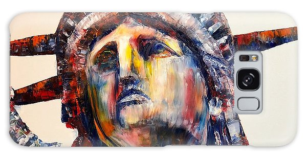 Statue Of Liberty Contemporary Painting Galaxy Case