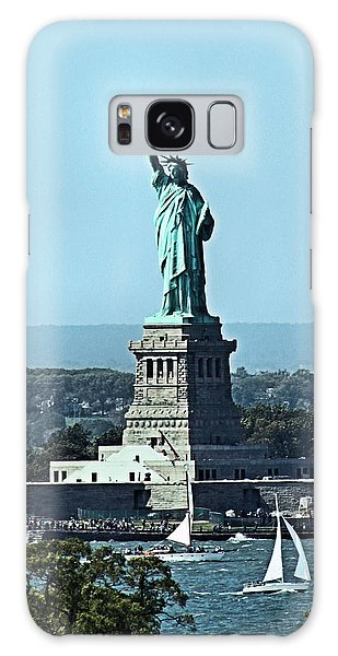 Statue Of Liberty Galaxy Case by Kristin Elmquist