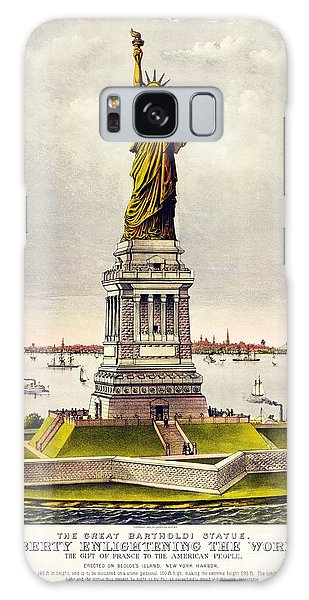 Statue Of Liberty Galaxy Case by Pg Reproductions