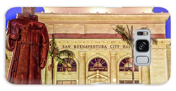 Statue Of Saint Junipero Serra In Front Of San Buenaventura City Hall Galaxy Case