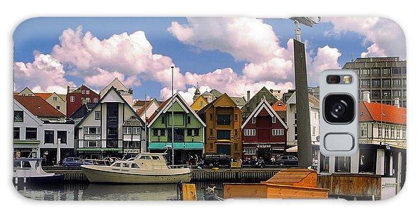 Stavanger Harbor Galaxy Case by Sally Weigand