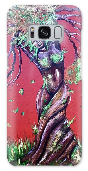 Galaxy Case - Stay Rooted- Stay Grounded by Artist RiA