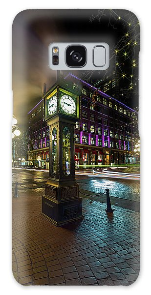 Steam Clock In Gastown Vancouver Bc At Night Galaxy Case