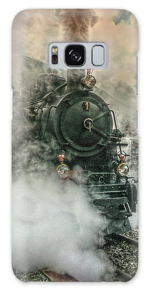 Galaxy Case featuring the photograph Steam Engine by Hanny Heim