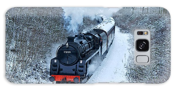 Steam Locomotive 73129 In Snow Galaxy Case