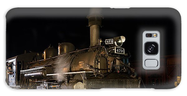 Locomotive And Coal Tender On A Turntable Of The Durango And Silverton Narrow Gauge Railroad Galaxy Case by Carol M Highsmith
