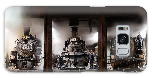 Steam Locomotives In The Roundhouse Of The Durango And Silverton Narrow Gauge Railroad In Durango Galaxy Case by Carol M Highsmith