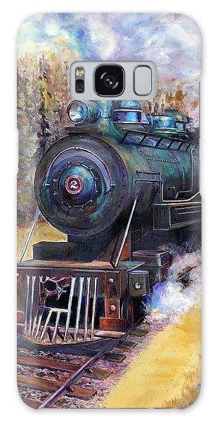 Steam Through The Pines Galaxy Case by Bonnie Goedecke